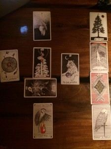 Renee gave me a beautiful full moon reading on these great cards.