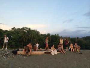full moon drum circle gathering starting
