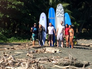 Surf lessons, Ron, Marla, Craig and Robin with Amy and Alex.