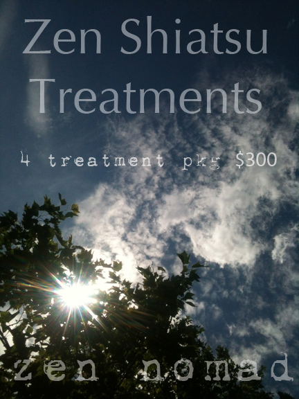 zen shiatsu treatments package in Toronto or Orangeville